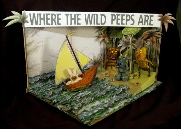 diorama where the wild peeps are