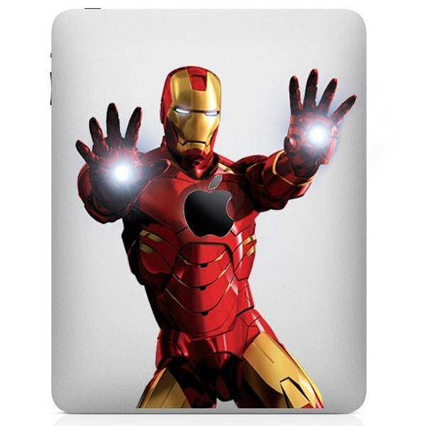 iron man ipad decal sticker design
