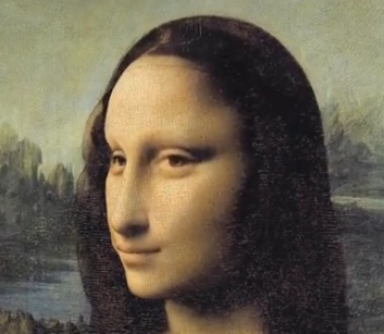 mona lisa 3d painting