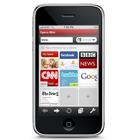opera mini 5 iphone browser approved