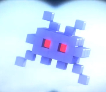 pixels video space invaders