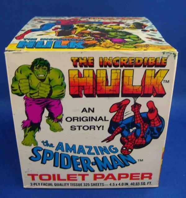 spiderman hulk toilet paper