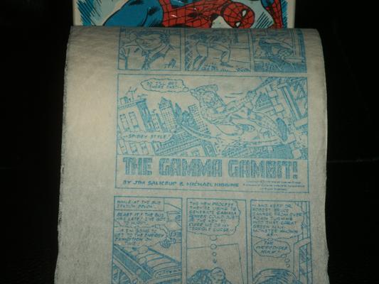 spiderman toilet paper