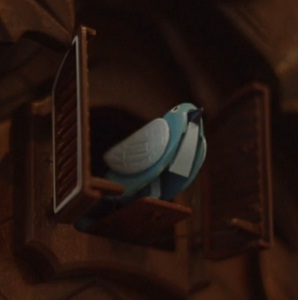 twitter bird cuckoo clock design