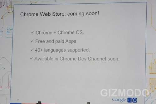 Chrome Web Store coming soon