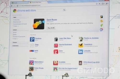 Chrome web store app page