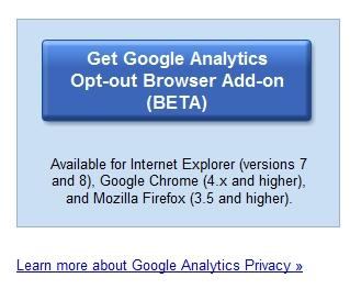 Google Analytics Opt-out Browser Add-on DOWNLOAD