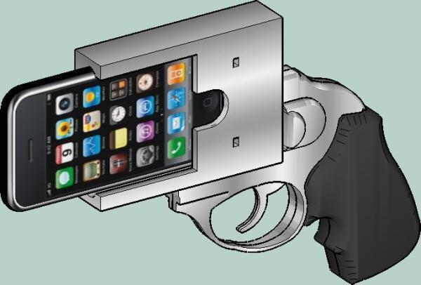 Animated design of Revoler iPhone case