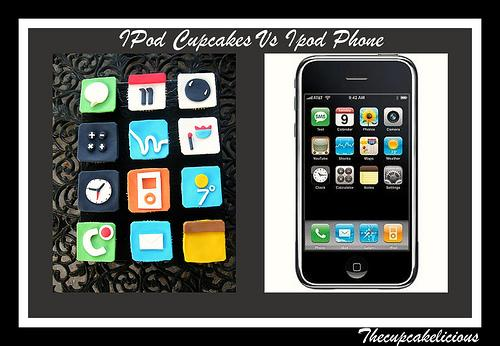 The iPod Touch iPhone Themed Cupcakes (3)