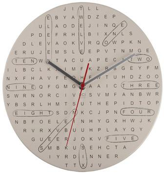 Word Search Clock Shows you the Time