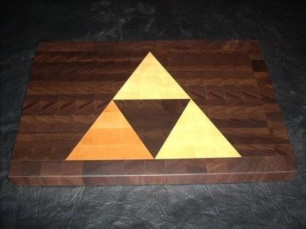 Zelda-Inspired Triforce Cutting Board (2)