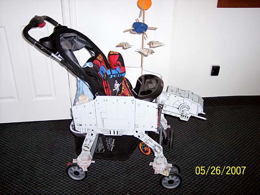 star wars at at stroller transports your baby with serious firepower