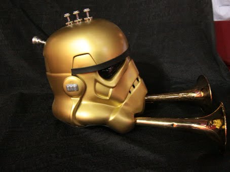 brass star wars stormtrooper helmet