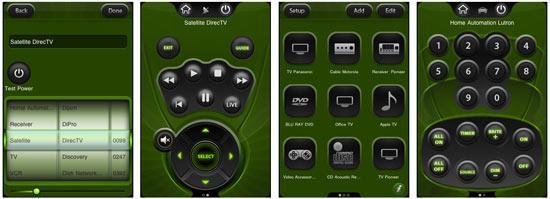iphone universal remote screens
