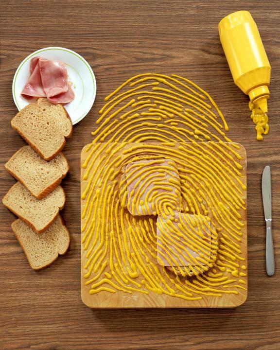 mustard sandwich finger print