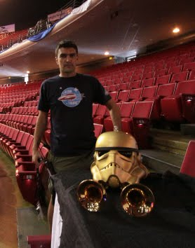 star wars brass stormtrooper helmet