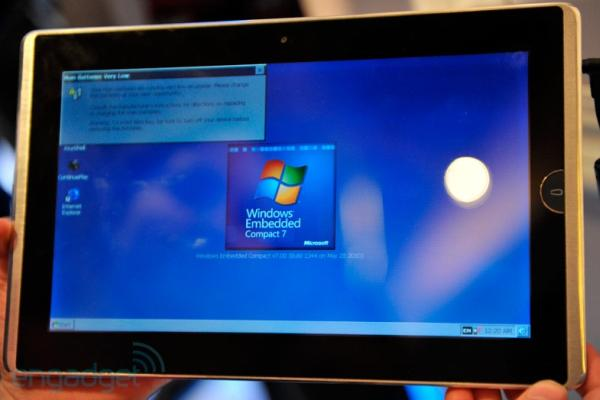 Asus EP101 running Windows Embedded Compact=