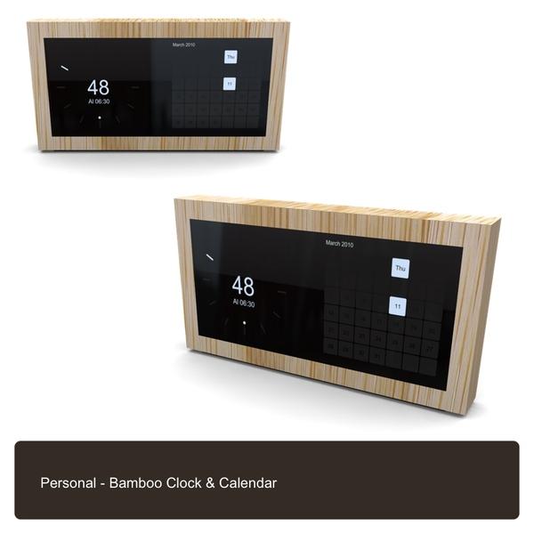 Bamboo Calender & clock