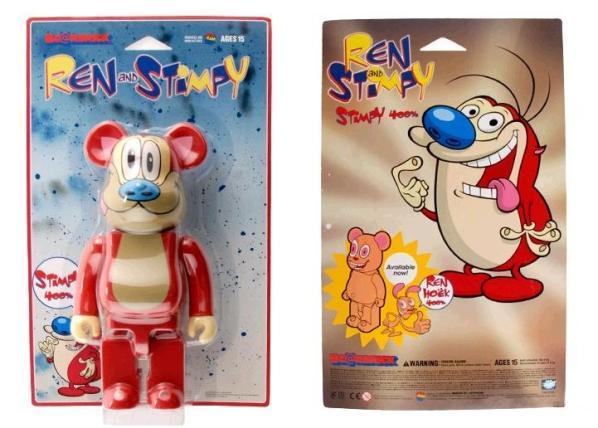 Ren and Stimpy Bearbricks 2