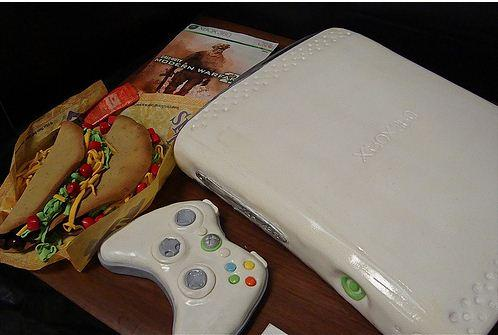 The Magnificent Xbox 360 Cake with Tacos