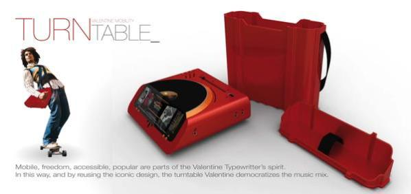 The Valentine Turntable is Red, Stylish and Every DJ's Dream! (2)