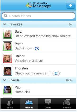 Windows Live Messenger iphone 2