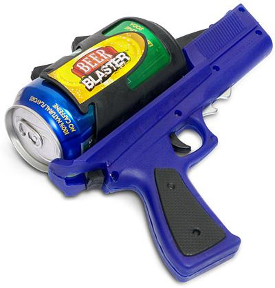 beer gun fathers day beer gadgets 2010