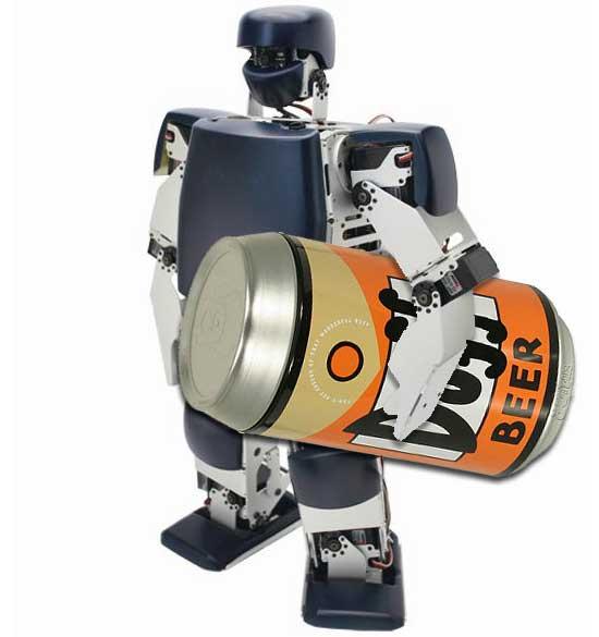 beer robot robovie pc image