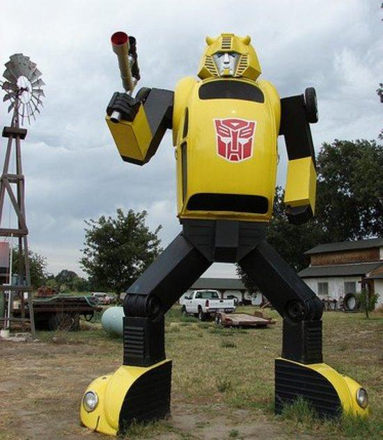 bumblebee transformer replica sculpture image