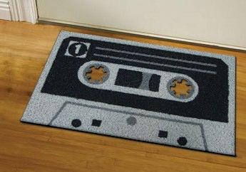 cassette tape doormat geeky theme 1