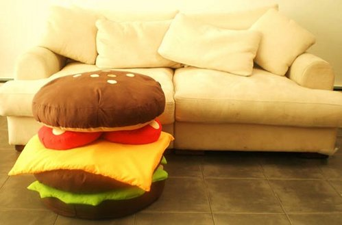 cheeseburger pillow design image