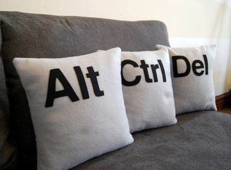 ctrl alt del pillow designs image