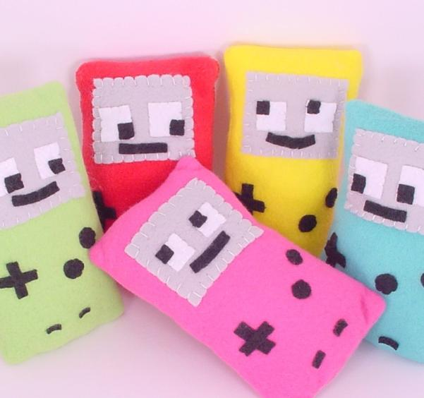 game boy plush toys design