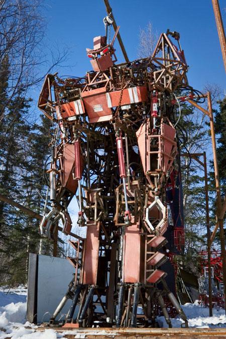 giant mecha robot statue image