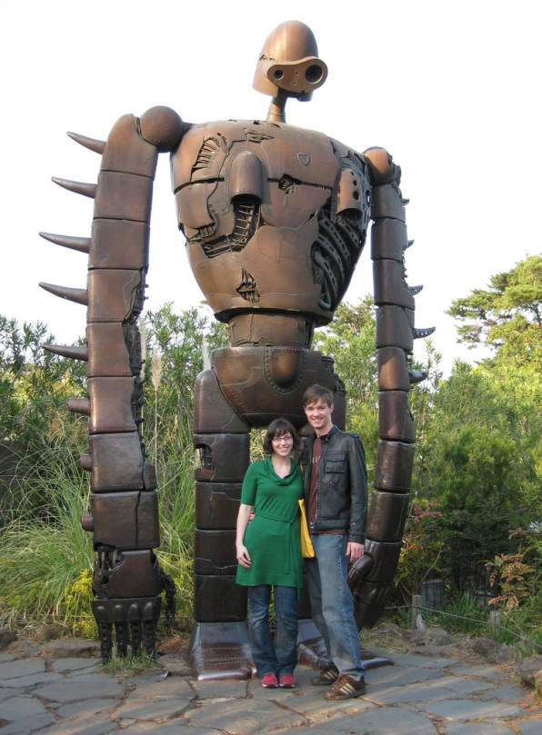 giant robot statue ghibli image