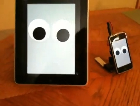 ipad walking robot