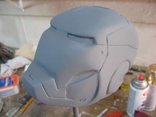 iron man carved helmet art 1