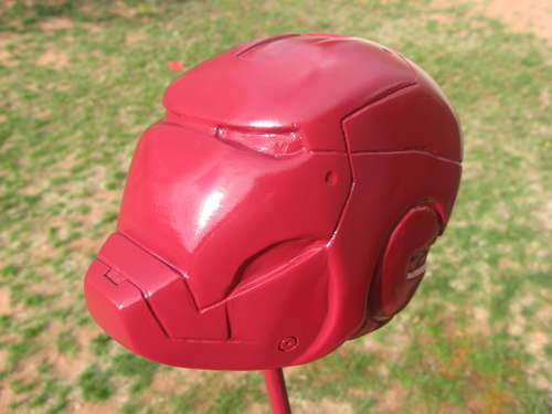 iron man carved helmet art 3