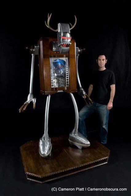 little big man kinetic robot sculpture