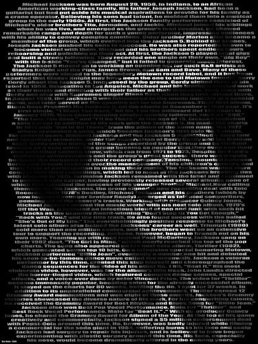 michael jackson text art image tribute 1 year