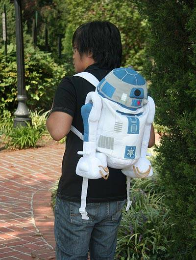 r2d2 backpack geek theme