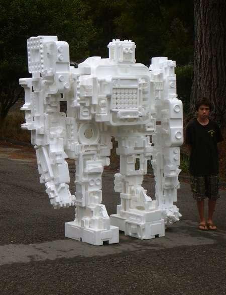 styrofoam robot replica imge