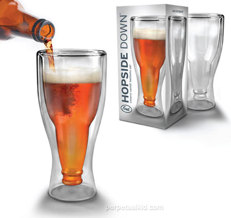 upside down beer glass fathers day beer gadgets 2010