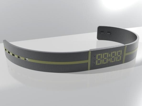 wrist watch concept e ink dorian