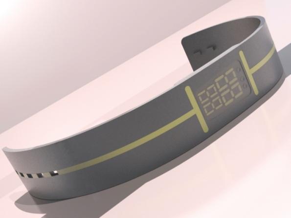 wristwatch e ink concept dorian