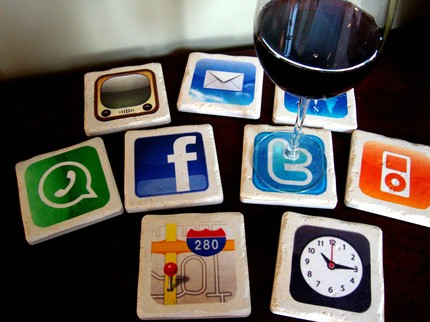 Amazing Set of Nine iPhone Apps Coasters  3
