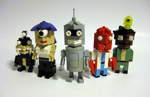 Futurama Characters Found in Lego Artwork