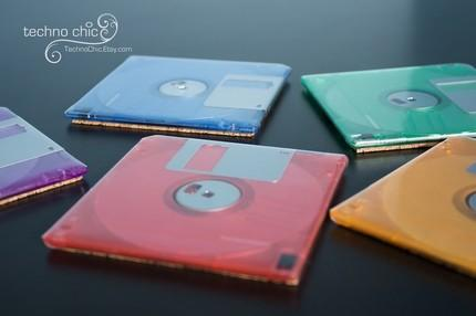 The Floppy Disks are now back as Floppy Disk Coasters in Funky  Colors 2