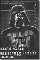 Darth Vader Mug Shot