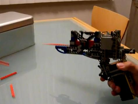 fully automatic lego gun weapon